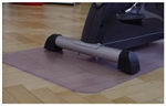 Fitness Equipment Floor Protection Mat 140 cm x 70 cm Clear