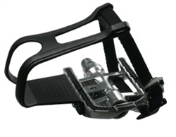 Indoor Cycle Pedal Set. Dual Use SPD Pedal Set & Standard Pedal